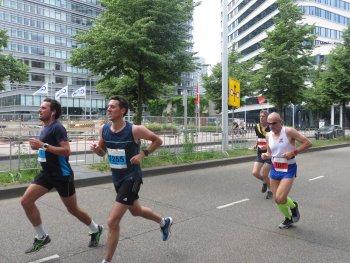 De laatste kilometers waren erg zwaar voor André Blok